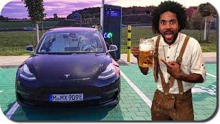 Angetrunkener Tesla Roadtrip nach Paris🍻 - Tesla zerkratzt🤷♂