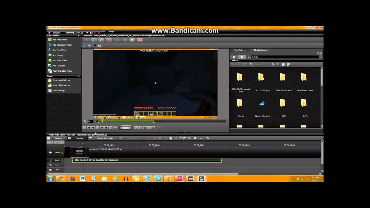how to edit a youtube video with roxio and windows movie
