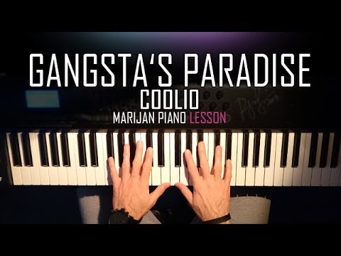 How To Play: Coolio - Gangsta's Paradise   Piano Tutorial Lesson + Sheets