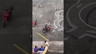 베트남 오토바이 면허시험 실기 코스 영상