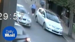 Road-rage thug seen attacking 80-year-old grandfather
