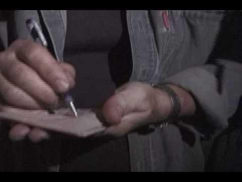 AC/DC Brian Johnson asks CHUCK BERRY for an autograph
