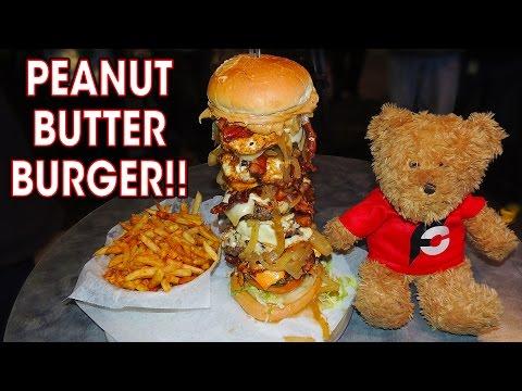 STELLANATOR PEANUT BUTTER BURGER CHALLENGE!!
