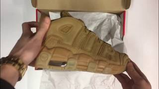 Nike Air More Uptempo - Flax/Flax | UNBOXING & ON FEET