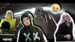 Grandma REACTS To Marshmello x Lil Peep - Spotlight (Official Music Video)