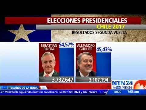 Sebastián Piñera es el nuevo presidente electo de Chile con el 98% de las mesas escrutadas