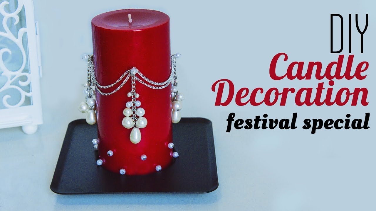 How To Decorate Candle With Pearl Holiday Room Decor 2019 Christmas Decorations Ideas Beads Art