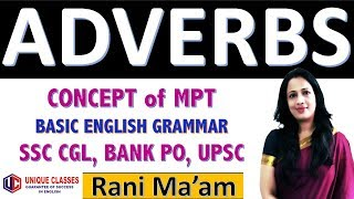 Adverbs in English Grammar | Concept of MPT | Basic English Grammar in Hindi By Rani Mam