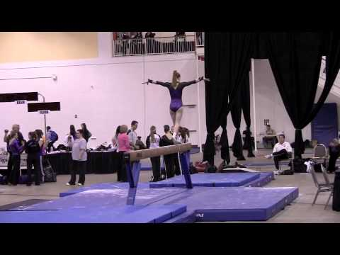 Stacy Hanus, Level 9 beam routine, Chicago Style M...