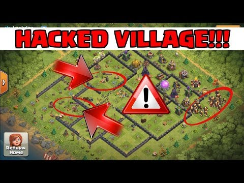 HACKED VILLAGE in Clash Of Clans! | Archer Queen Glitch in CoC Base Hack!