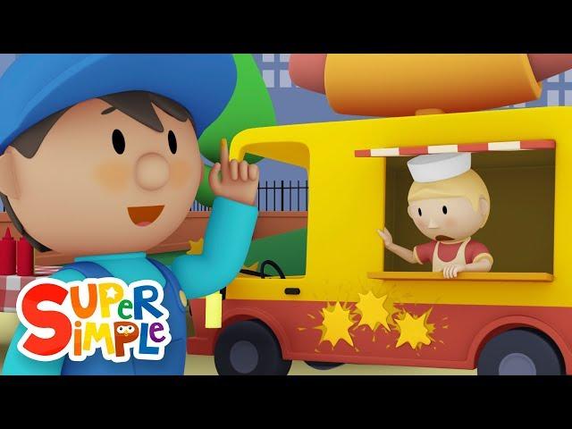 Harvey's Hot Dog Truck | Car Wash Cartoon for Kids