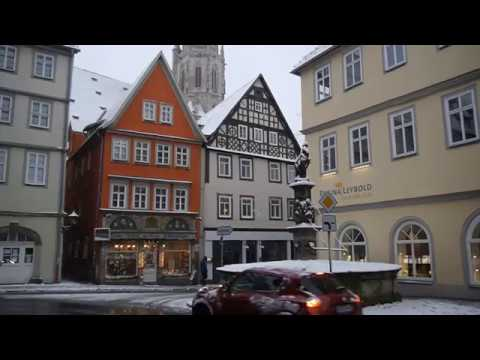 D: Coburg. Bavaria. Germany. Sights and Sounds of the City Center. December 2017