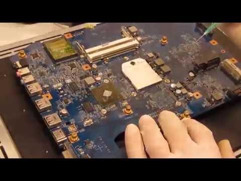 Acer 7540G JV70-CP kein Bild Reparatur no picture repair - Northbridge defekt defective