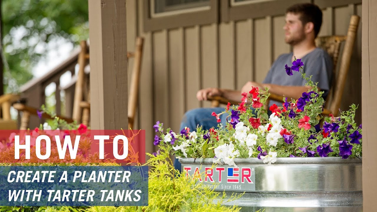 How to create a planter with a Tarter Stock Tank