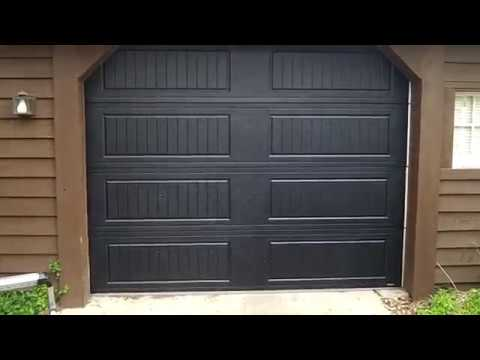 garage door 9x7Hormann garage door 9x7 3200 Black Cottage rvalue 89WestmontIL