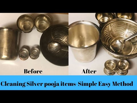 How to clean silver pooja items/Remove tarnish from silver/Science behind silver tarnish removal