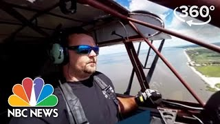 Aerial Advertising On The Jersey Shore | 360 Video | NBC News