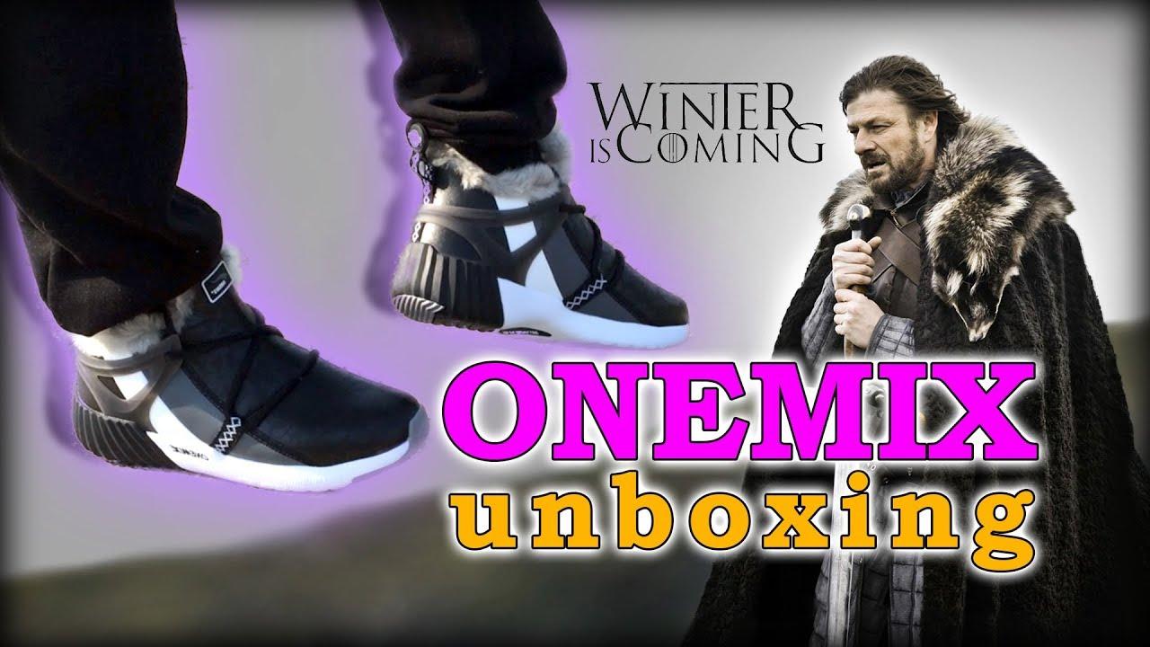 Зимние кроссовки (ботинки) ONEMIX | РАСПАКОВКА