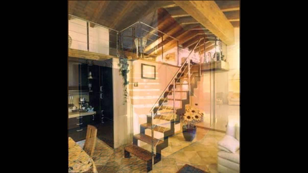 Produzione scale a giorno per interni con barriere in vetro e parapetti in acciaio inox youtube - Scale per interni catania ...