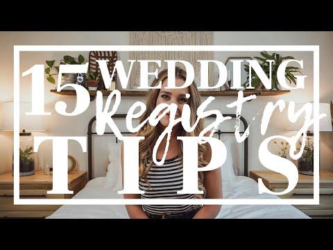 15 Wedding Registry Tips