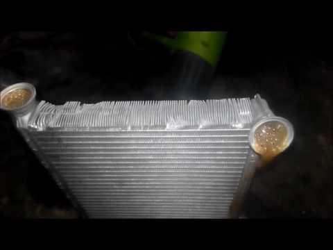 Промывка радиатора печки Peogeut