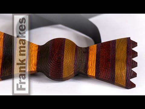 Wood Bow tie to the Auction