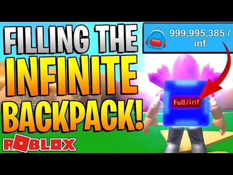 ROBLOX MINING SIMULATOR - INFINITE BACKPACK IS FULL!? *OVER A BILLION BLOCKS*