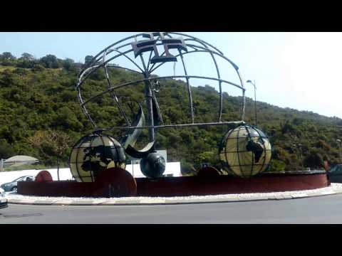 Portugal Albufeira Globe roundabout view from road.