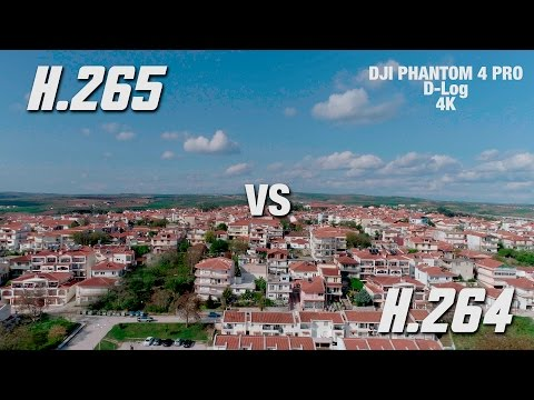 DJI PHANTOM 4 PRO - H.265 vs H.264 in D-Log - comparison footage and banding problems