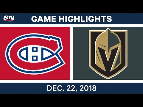 NHL Highlights | Canadiens vs. Golden Knights - Dec 22, 2018