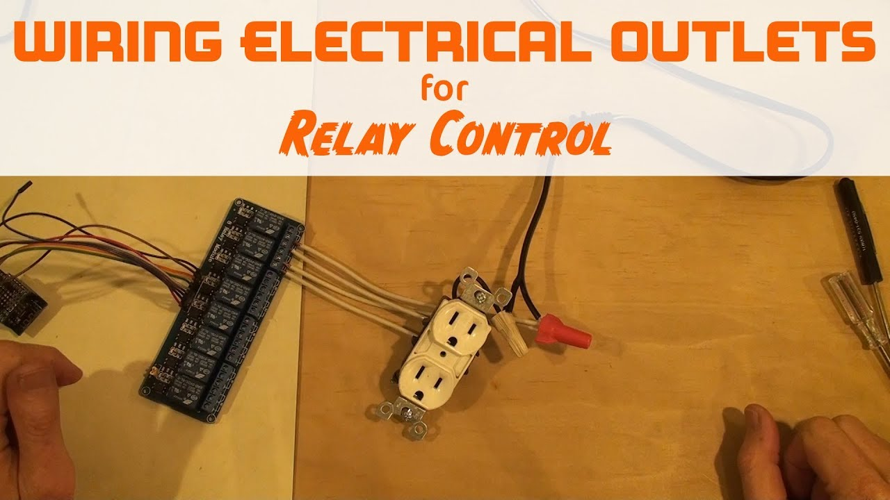 Control an electrical outlet with 2 relays for WeMos Arduino