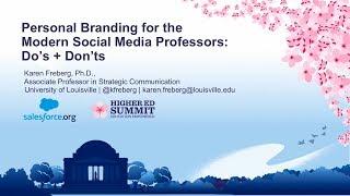 Personal Branding for the Modern Social Media Professors