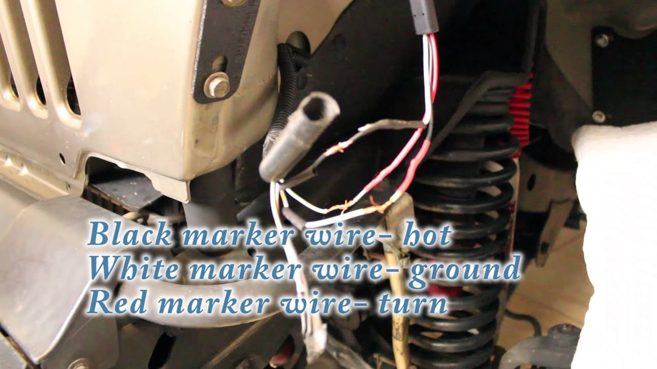 Poison Spyder Led Turn Signal Marker Light And Flasher Install 2002 Jeep Wrangler Dash Wiring Diagram Youtube