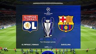 Lyon vs Barcelona - UEFA Champions League 19 February 2019 Gameplay