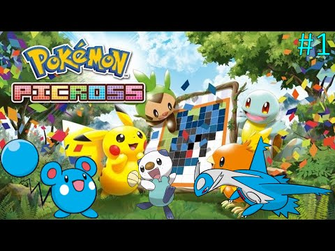 Let's Play Pokemon Picross:  Part 1 - Time To Draw. . . Items?!