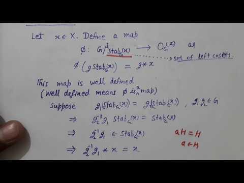 Group Action 4: Fixed Point set-Orbit; Orbit- Stabilizer