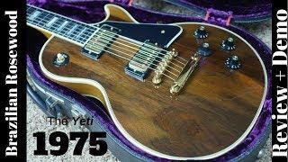 1975 Gibson Les Paul Custom Brazilian Rosewood Top Review and Demo