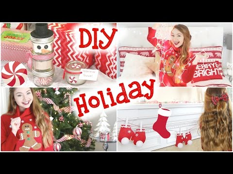 DIY Holiday Room Decor, Sweater, & Gifts! | Meredith Foster