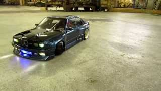 RC BMW e30  M3 BLUE/BLACK Bodypaint (picture and drift video)