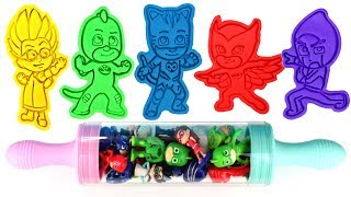 PJ Masks Play Doh Molds Can Heads Cat Boy Owlette Gekko Romeo Night Ninja Luna Girl Toys for Kids