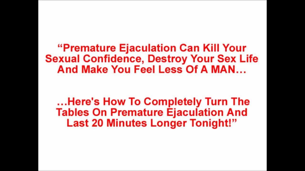 Tips for pre ejaculation