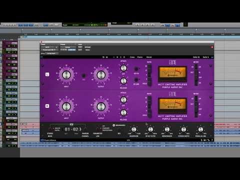 Purple Audio MC 77 Limiter - Feature walk through