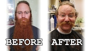 SHAVING MY BEARD AFTER 911 DAYS. MY WIFE