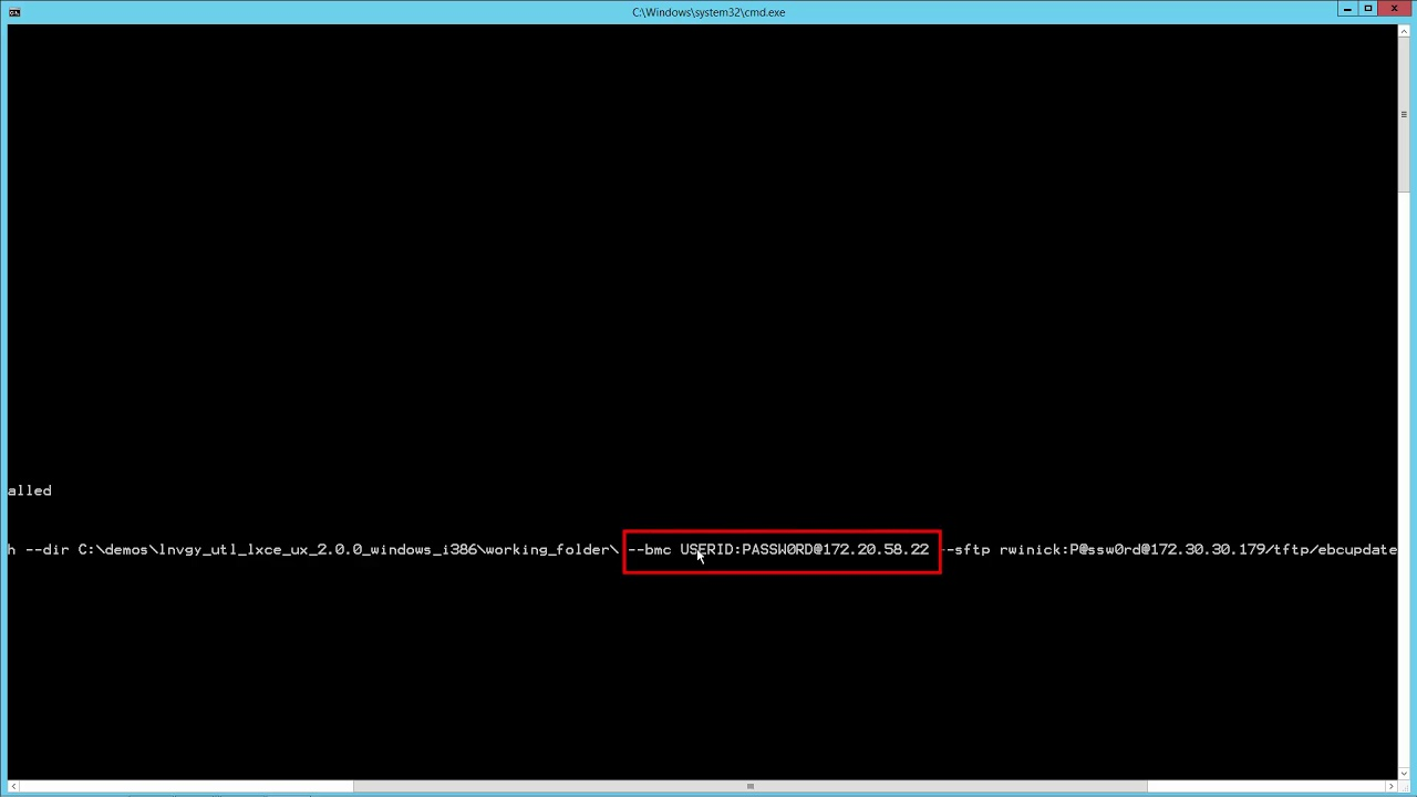 Lenovo XClarity Essentials OneCLI