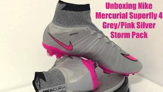 Unboxing Nike Mercurial Superfly 4 | Wolf Grey/Pink Replica | Aliexpress