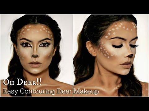 Easy Deer Makeup Tutorial | Halloween