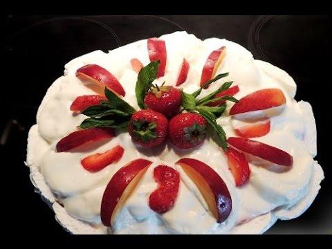 Торт без выпечки зефирный