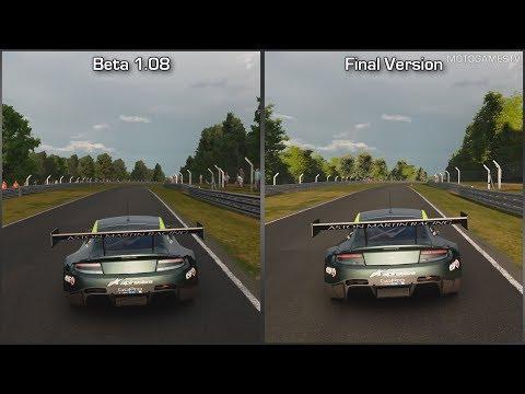 Gran Turismo Sport - Beta 1.08 vs Final Version - Aston Martin V12 Vantage GT3 at Brands Hatch