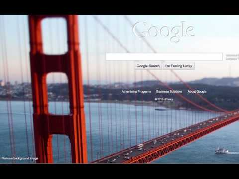 how to change google com background
