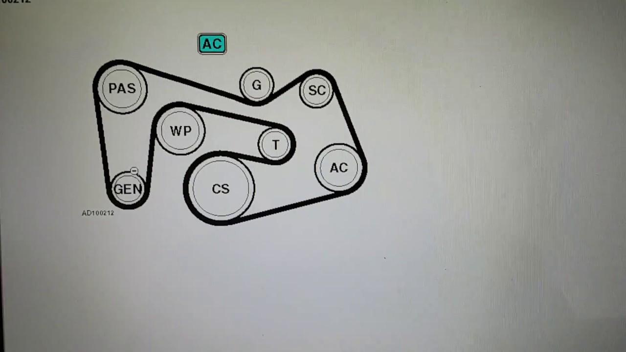 mercedes c180k 2002 to 2007 fan/alternator belt diagram (with ac)